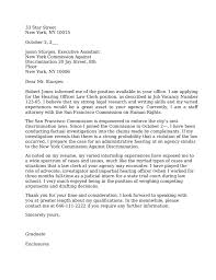 clerk cover letter hearing officer clerk cover letter sles and templates