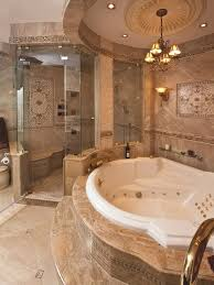 classic shower with glasses door and white marble bathtub also