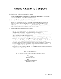 letter to congress format best template collection