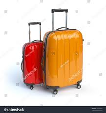 suitcases luggage two baggage suitcases isolated on stock illustration