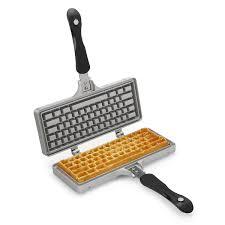 keyboard waffle iron nerdy gadget waffle iron uncommongoods