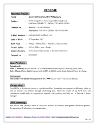 Best Quality Resume Format by Curriculum Vitae Sample Cover Letter For Teacher Staff Nurse