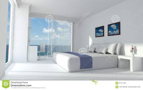 modern luxury hotel room 3d rendering stock illustration image