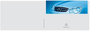 2006 mercedes benz clk350 clk500 clk55 amg owners manual