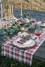 christmas table toppers plaid table runners christmas