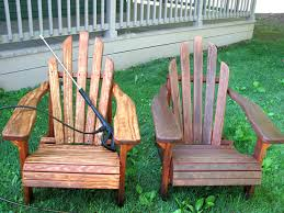 How To Paint Wooden Chairs by Re Staining Adirondack Chairs Living Rich On Lessliving Rich On Less