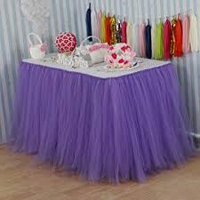 tutu decorations for baby shower vlovelife lavender tulle table skirt tutu tableware
