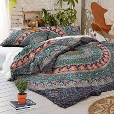 Duvet With Quilt Bohemian Mandala Quilt Cover With Matching Pillow Cases Boho Duvet Cov