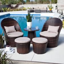 Balcony Bistro Set Patio Furniture To It Layton All Weather Wicker Balcony Chat Set