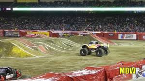 best monster truck show monster jam 2013 angel stadium youtube
