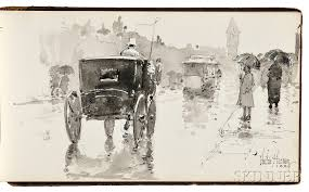 childe hassam american 1859 1935 rainy day boston sale