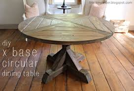 how to make a round table diy x base circular dining table jaime costiglio