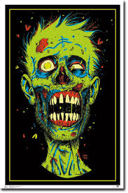 free black light posters black light zombie poster posters from work pinterest lights