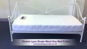 Single Metal Day Bed Frame Serene Lyon Single Metal Day Bed Frame
