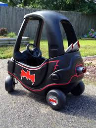 batman real car one more shot of my little one custom batmobile cozy coupe u003c3