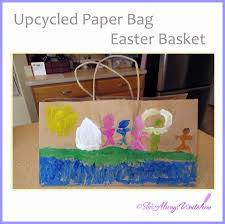 she u0027s always write kid friendly upcycled paper bag easter basket