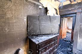 burned tv in bedroom stock photo picture and royalty free image