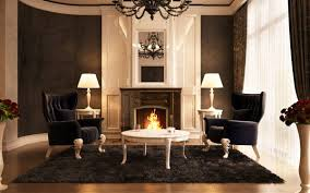 Fancy Fireplace by Fancy Expensive Living Room Furniture Using High Back Wing Chair