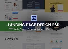 landing page design psd design oriented conversion optimized