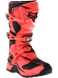 childrens motocross boots fox orange 2018 comp 5y kids mx boot fox freestylextreme