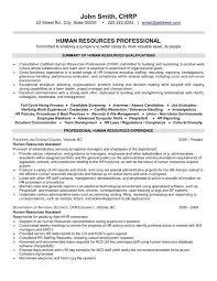 Hr Objective In Resume Resume Sample For Hr Sample Hr Resumes Sample Resume Example Hr Or