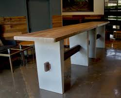 Reclaimed Wood Bar Table Concrete Reclaimed Wood Bar Table 5 From The Moon Classic