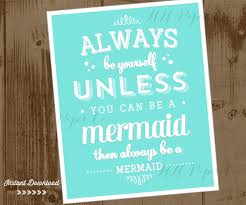 mermaid party printable 8x10 sign instant download always