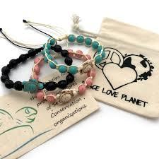 love bead bracelet images Adjustable stone bead bracelets peace love planet jpg