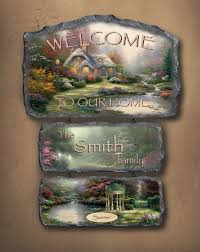 personalized kinkade seasonal welcome sign the