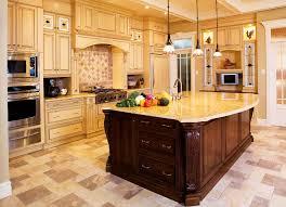 decorative custom built kitchen islands with wood countertop