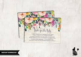 books for baby insert card floral baby shower invitation