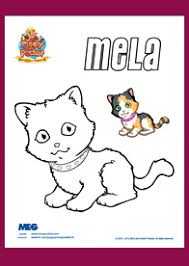 puppy in my pocket coloring page mela