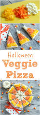halloween veggie pizza looks like candy corn perfect halloween