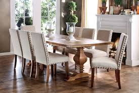 macapa transitional style 9 piece dining table set