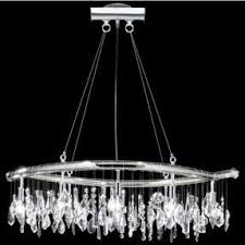 Moder Chandelier Crystal Oval Chandelier Foter