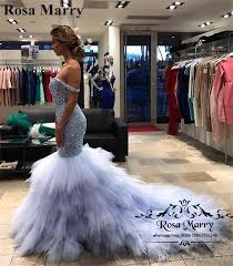 dh prom dresses luxury crystals mermaid pageant prom dresses 2018 shoulder