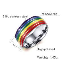 cheap rings images Online shop cheap wholesale gay pride rings 6 colors safe enamel jpg