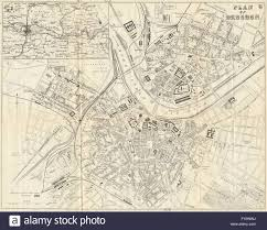 Dresden Germany Map by Dresden Antique Town Plan City Map Germany Bradshaw 1890
