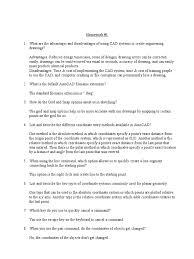 autocad homework auto cad coordinate system