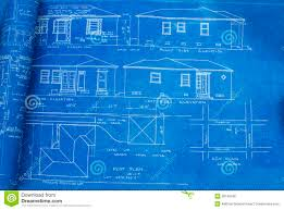 free home blueprints mid century home blueprint royalty free stock image image 28749796