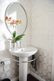 Powder Room With Pedestal Sink Simply Decoration Powder Room Contemporary With Living Space
