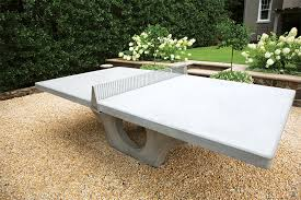 home ping pong table henge concrete ping pong table blends sport and art ocean home