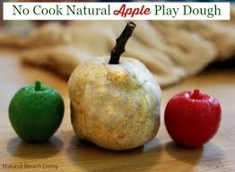 natural apple scented no cook play dough natural beach living