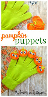five little pumpkins finger play gloves craft the homespun hydrangea