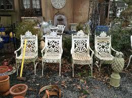 decorative garden furniture and concrete at estate sale estate