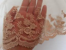 Lace Fabric For Curtains 7yards 7 Rose Gold Vintage Lace Trim Embroidered