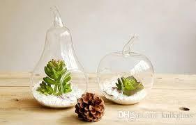 Glass Bowl Vases Apple And Pear Shape Glass Desktop Vase Holiday Decor U0026gifts Home
