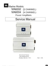 jbl ma6002 ma6004 marine models power amplifiers 2 u0026 4 chanel