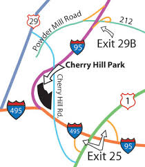 map on road cherry hill park is the closest cground to washington dc maps