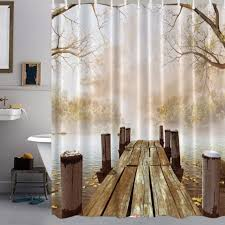 online buy wholesale flat screen accessories from china flat polyester wooden plate waterproof shower curtain home bath screen cover bathroom decorative accessories home textiles 180x180cm